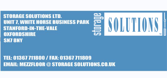 Mezzaninines from Storage Solutions Ltd, Unit 7 White Horse Business Park, Stanford in the Vale, Swindon, Oxfordshire, Oxon, Englandswindon